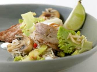 Recepten - Fried Rice met Finettes, chili en groene bloemkool