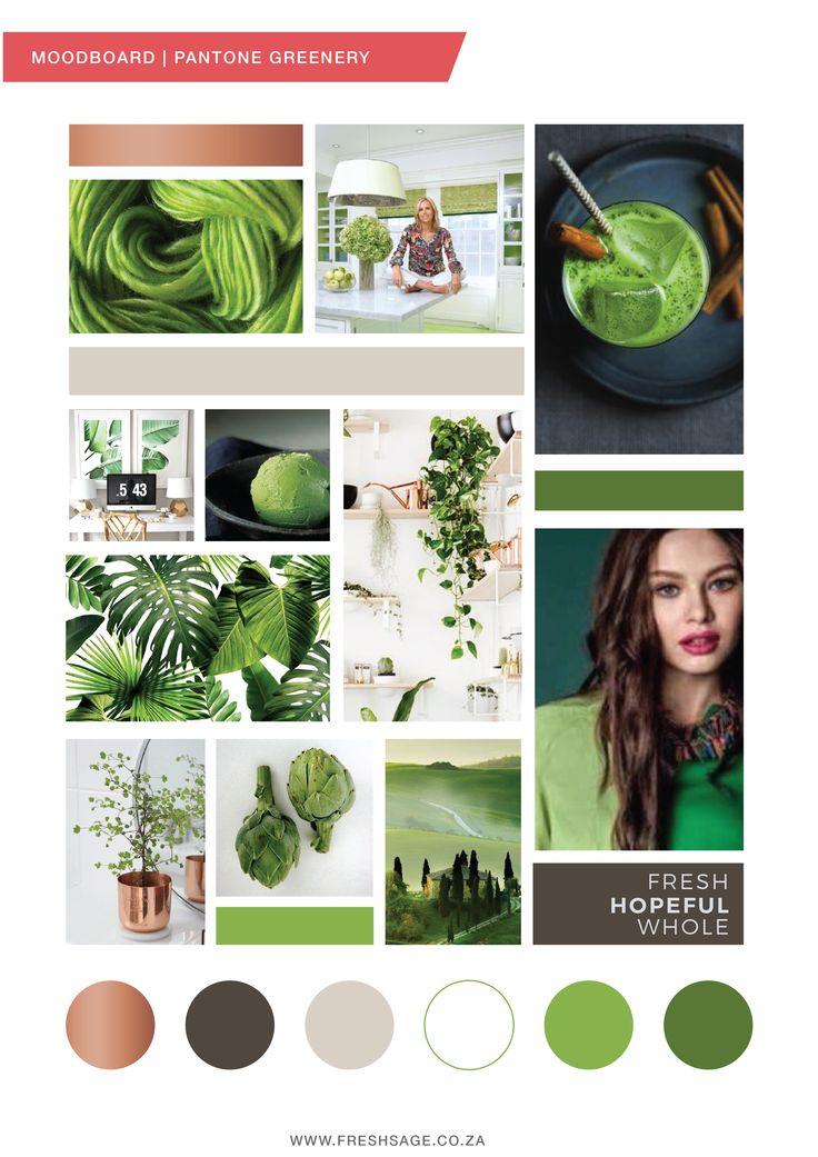 January Moodboard | Inspired by Pantone Greenery - FreshSage