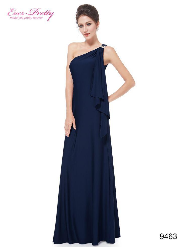 Ever Pretty plesové šaty modré splývavé 9463