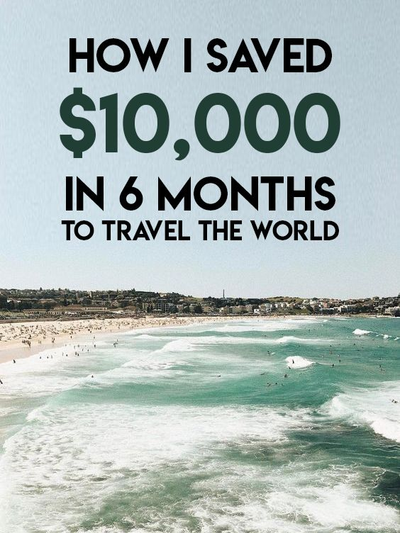 How I saved $10000 in 6 months so I could travel the world :)