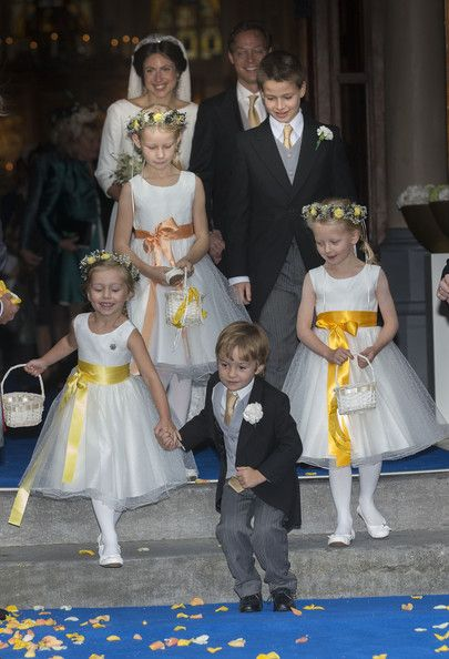 Prince Jaime de Bourbon Parme, Viktoria Cservenyak and Princess Zaria (R) leave the Church Of Our Lady At Ascension after their wedding on 10-5-13 in Apeldoorn, Netherlands