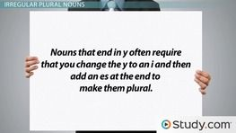 Singular & Plural Nouns: Definitions, Rules & Examples