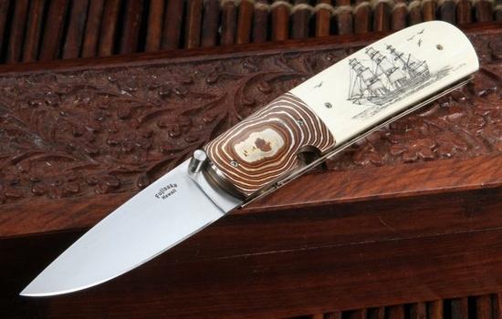 Rigney Dagger W Nude Scrimshaw Handle By Fields