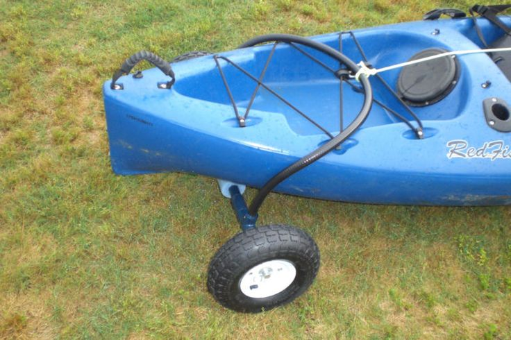 Cheap DIY kayak cart.  I wouldn't buy from these boneheads.  You can buy all the parts from harbor freight and Home Depot