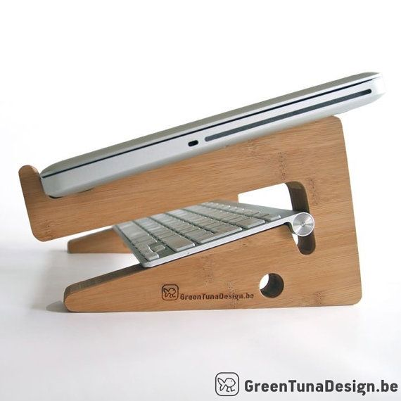 LAPTOP STAND: this unique puzzle shaped by greentunadesign on Etsy