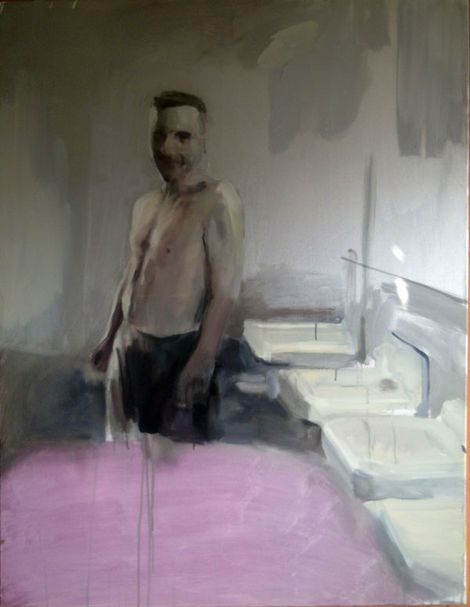 Geraldine Swayne, Unknown (Private Collection acrylic on canvas - 2010 - 5'x3')