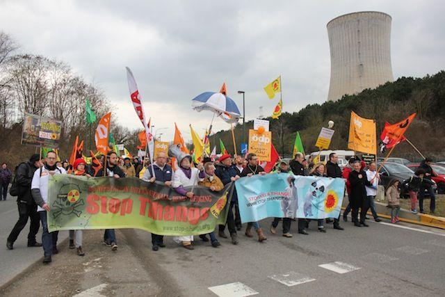 Tihange: opnieuw geslaagde betoging tegen kernenergie