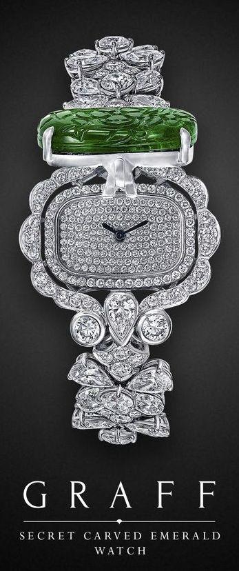 Secret Carved Emerald Watch | Graff Diamonds