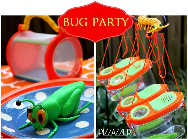 Colorful   Fun Bug Birthday Party! on http://pizzazzerie.com