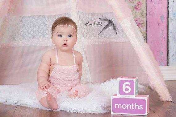 Newborn or Sitter baby girl pink eyelash by GeminiiRushDesigns