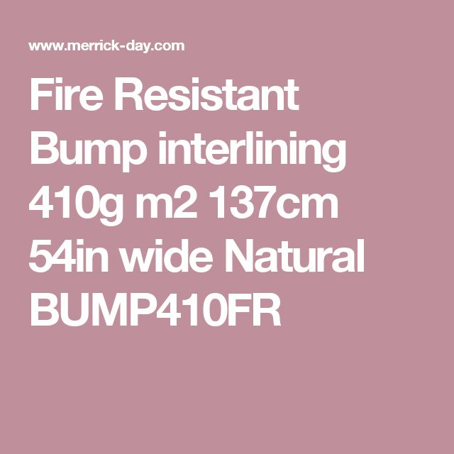 Fire Resistant Bump interlining  410g m2 137cm  54in  wide Natural BUMP410FR