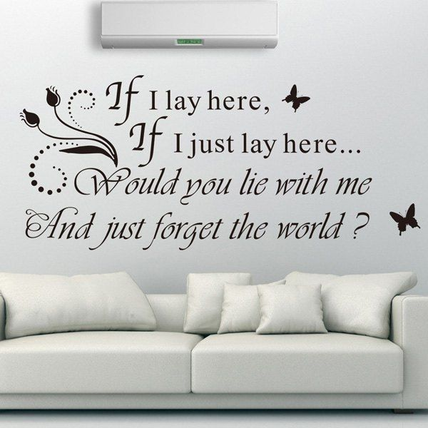 4.84$  Watch now - http://dided.justgood.pw/go.php?t=174628901 - High Quality Romantic Sentence Pattern Removeable Wall Sticker 4.84$