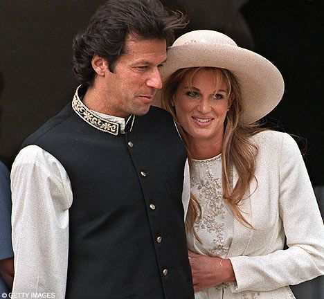 Imran and Jemima Khan leaving Richmond Register Office on their wedding day in 1995