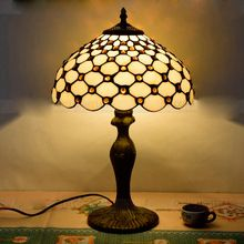 Горячие продажа 30 СМ ресторан отеля настольная лампа простой Средиземноморский цвет стеклянные бусины спальня Настольная Лампа