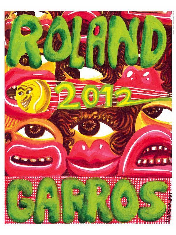 Roland Garros 2012. Poster by Quaterback & HerveDiRosa.