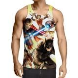 Justice League Super Power Heroes Cool Art Printing Tank Top    #JusticeLeague #SuperPower #Heroes #Cool #Art #Printing #TankTop