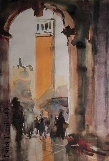 #venice #painting #watercolor #art #landscape #sanmarco