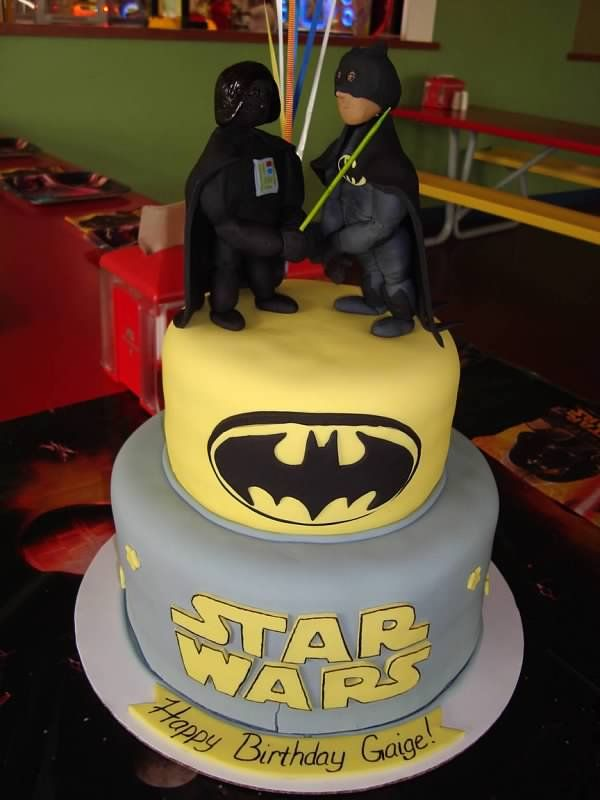 Batman And Darth Vader Cake Cakes Pinterest Discover