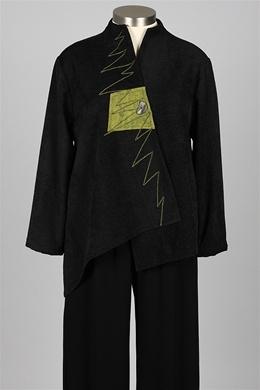 hemline. A La Mode - Junko Jacket - Lime