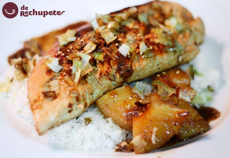 Nueva receta en el blog. Solomillo de pavo en salsa de soja y piña http://www.recetasderechupete.com/solomillo-de-pavo-en-salsa-de-soja-y-pina/11540/ #solomillo #derechupete