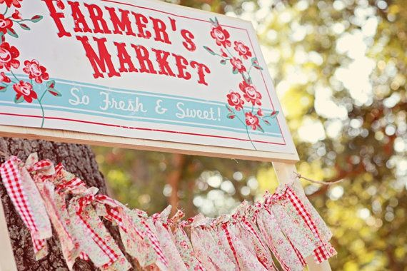 Farmer's Market Stand Sign. Farmer's Market by ShopLuLus on Etsy