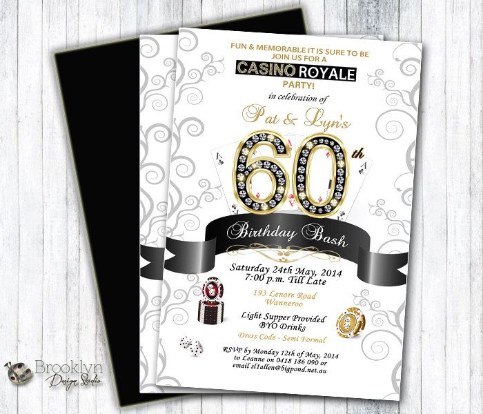 Casino with Diamonds Themed Party by BrooklynDesignStudio on Etsy