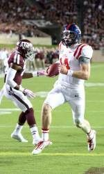 Senior quarterback Bo Wallace ran for two touchdowns and threw for one more Saturday at Texas A&M.