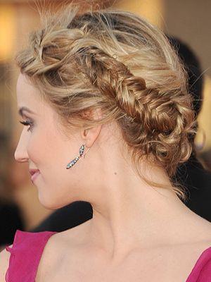 We want Dianna Argon's red carpet plaited updo hair :: Cosmopolitan UK