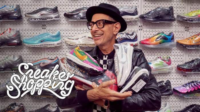 Jeff Goldblum Goes Sneaker Shopping