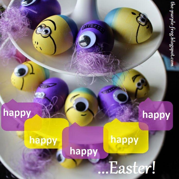 the purple frog: happy, happy, happy... minion eggs | diy
