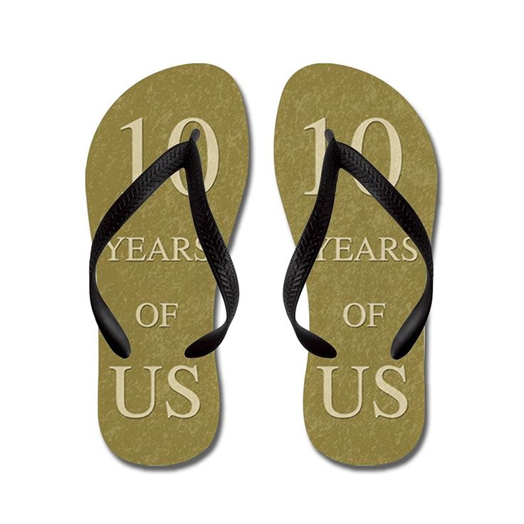 JKYUKO Romantic 10th Wedding Anniversary flip flops Adults S,Blue -- Details can be found by clicking on the image.