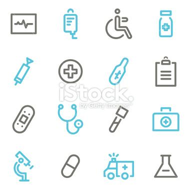 Health Medical Icons - Line Color Series