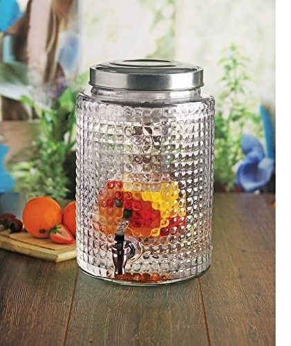 windowpane glass drink dispenser with infuser and ice core - Beverage Dispensers