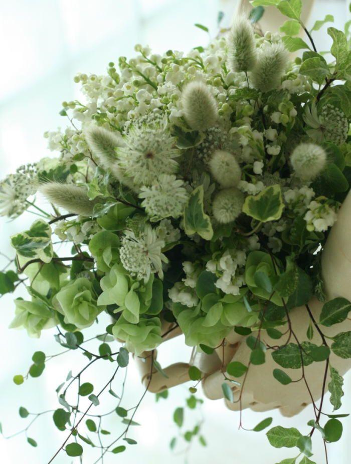 スズランのブーケ、鈴蘭のブートニア : 一会 ウエディングの花