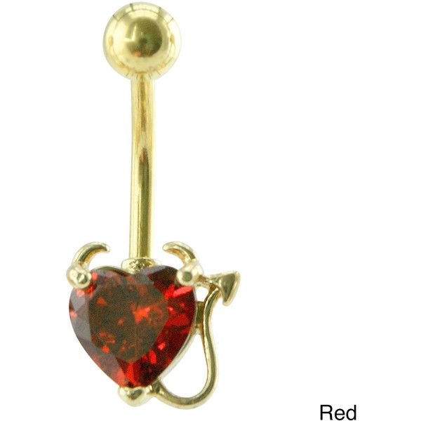 Supreme Jewelry Bad Girl Heart with Horns and Tail Belly Ring ($14) ❤ liked on Polyvore featuring jewelry, piercings, accessories, belly button rings, belly ring, red, clear jewelry, clear body jewelry, belly button rings jewelry and body jewellery