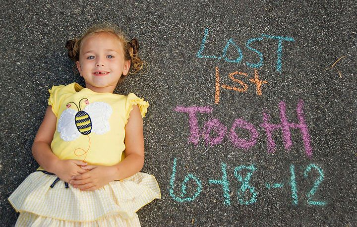 Lost First Tooth Photo---can do this with the chalkboard doors!