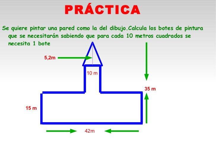 Areas y perímetros de figuras planas. Práctica