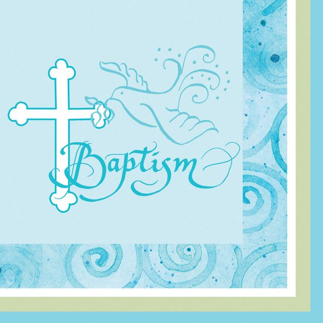 Match our Faithful Dove Blue theme with these soft durable 3-ply drink napkins  sc 1 st  Pinterest & 13 best Baptism images on Pinterest | Party supplies Baptism party ...