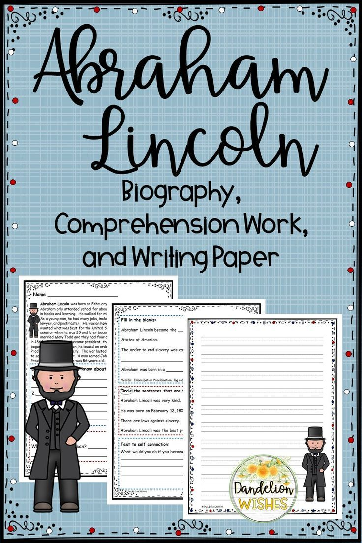 Abraham Lincoln Biography Comprehension Work And Writing Paper Lincoln Biography Abraham Lincoln Biography Teacher Favorite Things [ 1104 x 736 Pixel ]