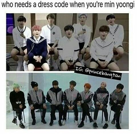 All you have to be is Min Yoongi XD