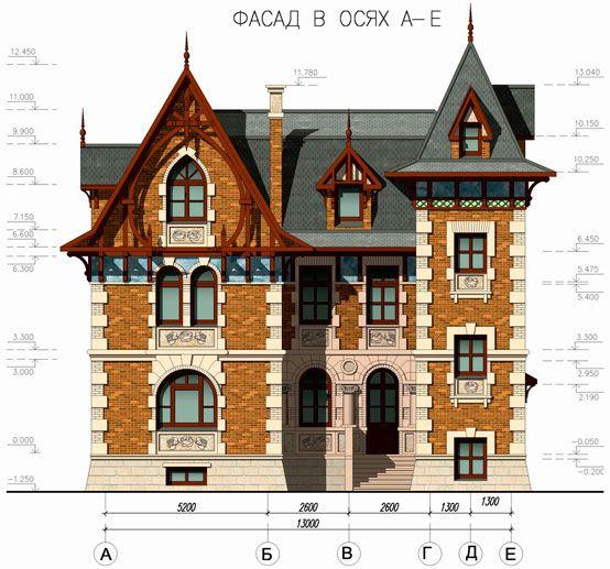 Архитектурные признаки дома в викторианском стиле