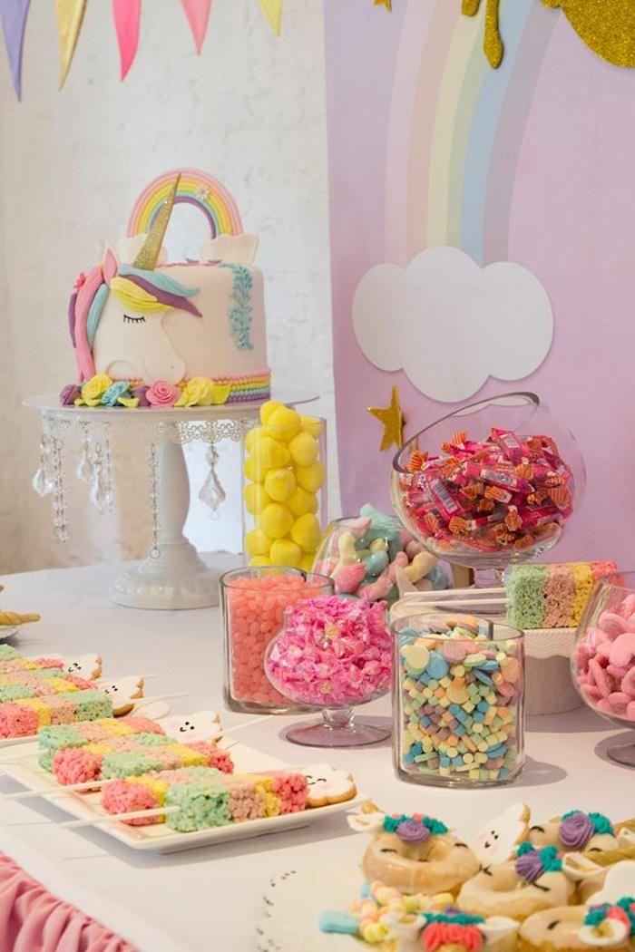 Pastel Rainbow Unicorn Birthday Party Kara S Party Ideas Rainbow Unicorn Birthday Party Unicorn Birthday Rainbow Unicorn Birthday