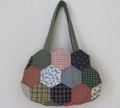 Tutorial Membuat Tas Patchwork Hexagon dari Kain Perca atau Baju Bekas