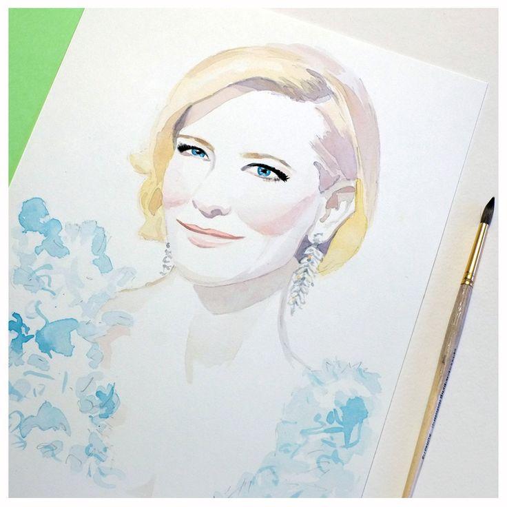 Cate Blanchett, illustration by Irina Sibileva
