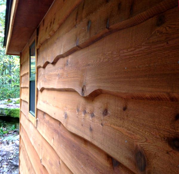 Haida 1x12 Wavy Edge Bevel Cedar Siding Factory Pre Stained Wood Siding Exterior Cedar Siding Cedar Wood Siding