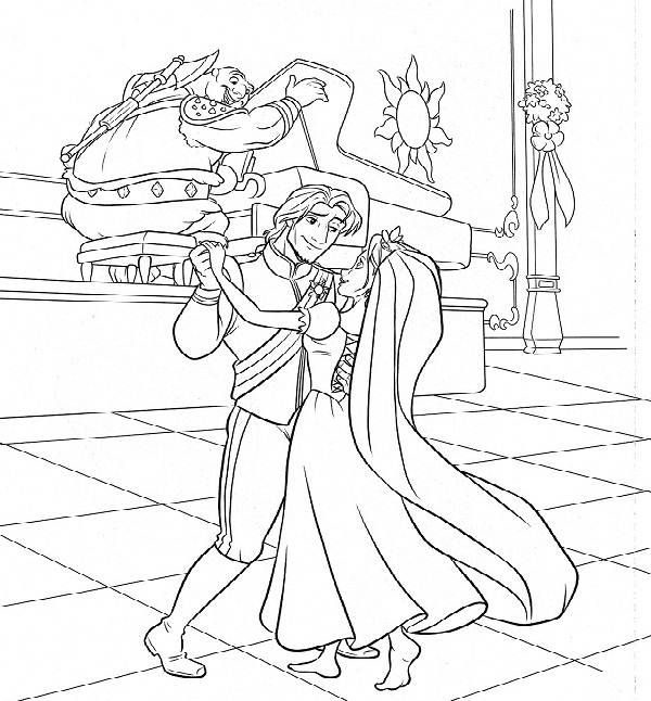 disney wedding coloring pages - photo#29