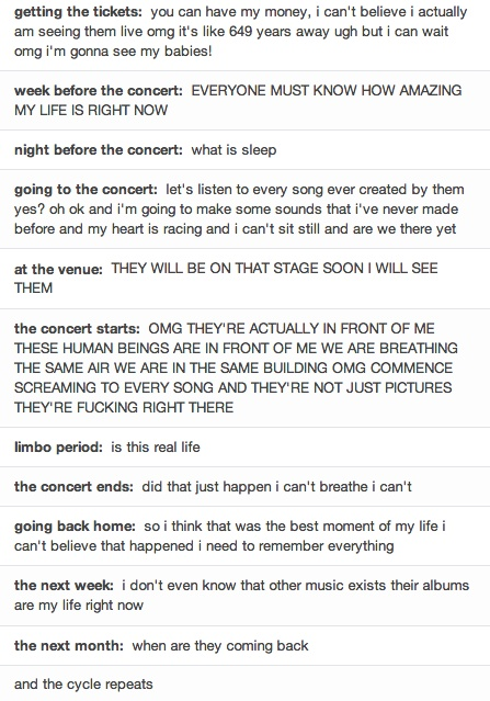 So true! The evolution of going to a concert