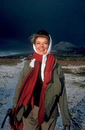 "Katharine Hepburn on location for ""Lion In Winter"""