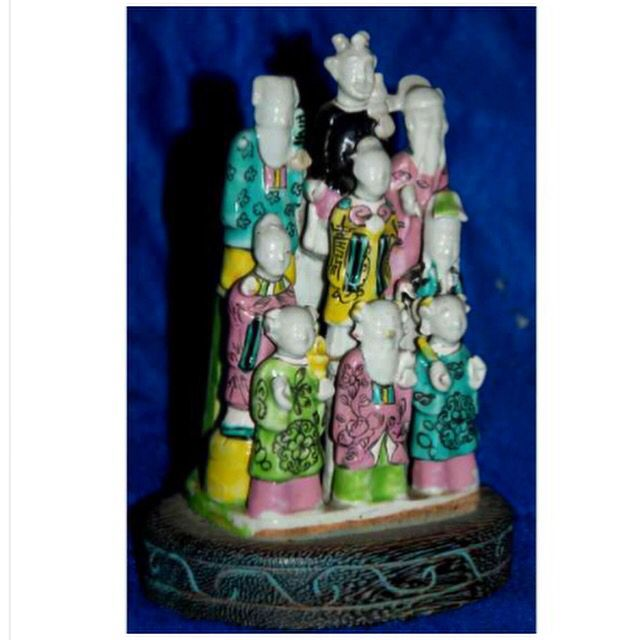Chinese export porcelain set of the eight Taoist immortals and SHOULAO. Circa 1790, Qianlong reign, Qing dynast nove sabios- 550 - 14 x 9 x 6 www.iarremate.com  Galeria Paiva Frade 05 de setembro às 20:30hs Meissen and european porcelain - Chinese export porcelain   #meissen #meissenporcelain #meissenporcelaincollection #porcelain #escultura #collection #leilao #auction #bid #chinese #paivafrade #european #inedito #iarremate #luxury #luxo #decor #arquitetura #export #exportquality