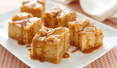 Bouchées de biscuits au gâteau au fromage aux grains de caramel écossais recette